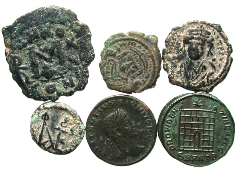 Unresearched Ancient Byzantine Bronze Coin Coins & Paper Money Coins: Ancient