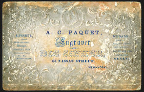ac paquet business card embossed business card 65 nassau st ny uneven tone paquet is famous for