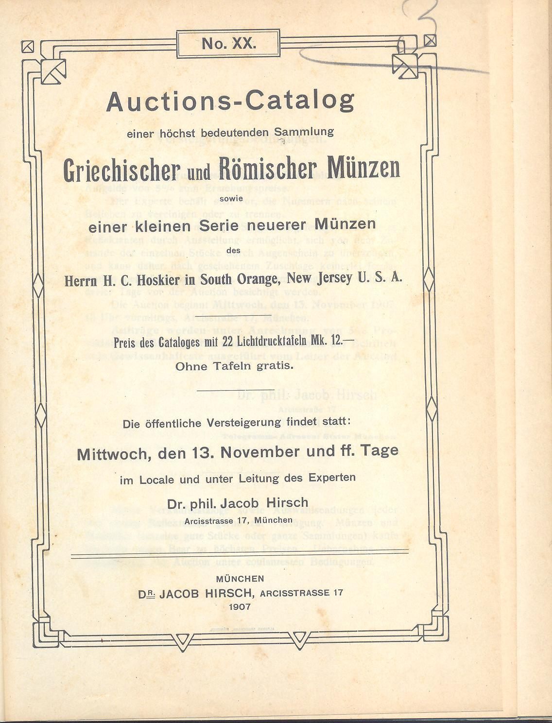 Numisbids Bertolami Fine Arts E Auction 59 Lot 2089 Hirsch Jacob