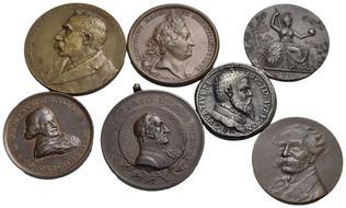 0e92762df2 Medaglie - - - PERSONAGGI E CITTA' - Roma 1902/03, V.Bignami, N. Vertio,  A.Volta, F. Galliani, L.S. Eustachio, C..