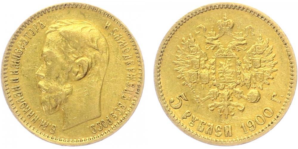 9dab5d45e NumisBids: Aurea Numismatika Praha E-Auction 15, Lot 4097 : Rusko, Mikuláš  II., 1894 - 1917 5 Rubl 1900 FZ, St. Peterburg,.