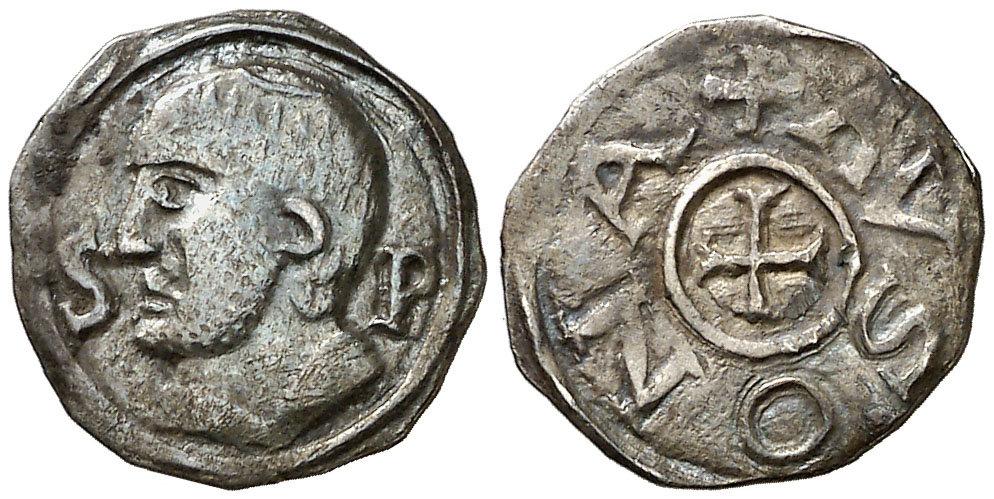 Dinero merovingio de Ansedertus. Marsella Image00220