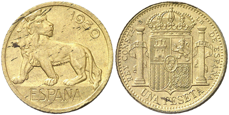 PRUEBAS 1 PESETA 1930. MARCAS CLP Y SLM Image01570