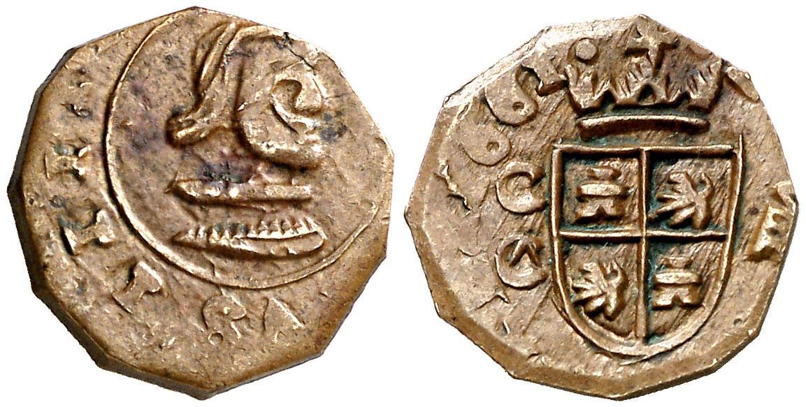 8 maravedis Cuenca falsa de época Image03326