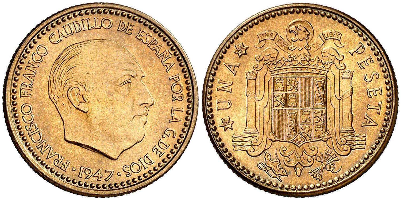 1 Peseta 1947 (*E-51). Estado Español Image02023