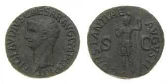 357ed8e455 Claudio (41-54 d.C.) Asse databile al periodo 50-54 d.C. - Zecca: Roma -  Diritto: testa dell'Imperatore a sinistra -.