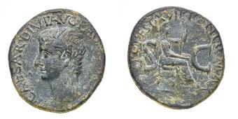 9be9550d4c Tiberio (14-37 d.C.) Asse databile al 15 d.C. - Zecca: Roma - Diritto:  testa dell'Imperatore a sinistra - Rovescio:.