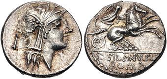 T Claudius Pulcher Mallia 2 Q Ap 111-110 Bc Urbinius Ar Denarius Mallius