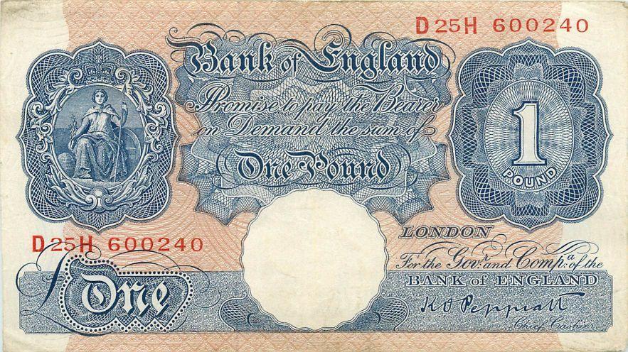 UK Great Britain 1 Pound 1970-1977 P-374g  UNC