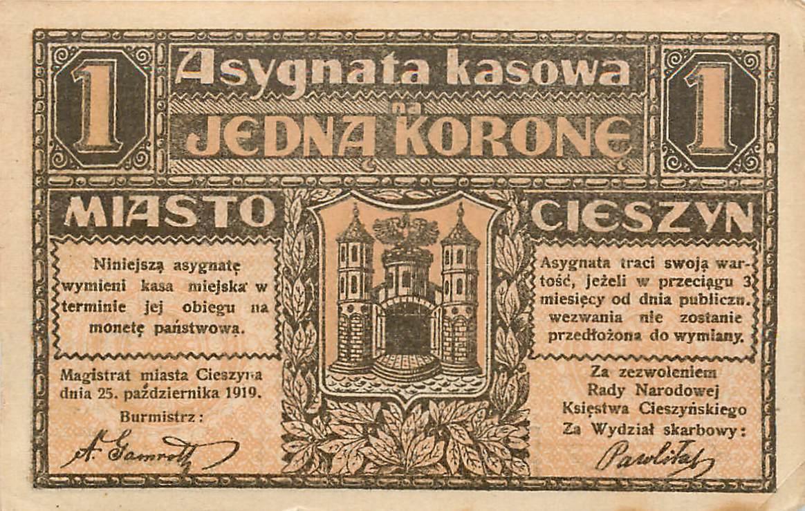1919 A-UNC Large size note Poland 1000 1,000 Marek P-29