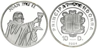 SEATED POPE UNC SILVER Commemorative Coin VATICAN 1000 LIRE 1986 KM# 198