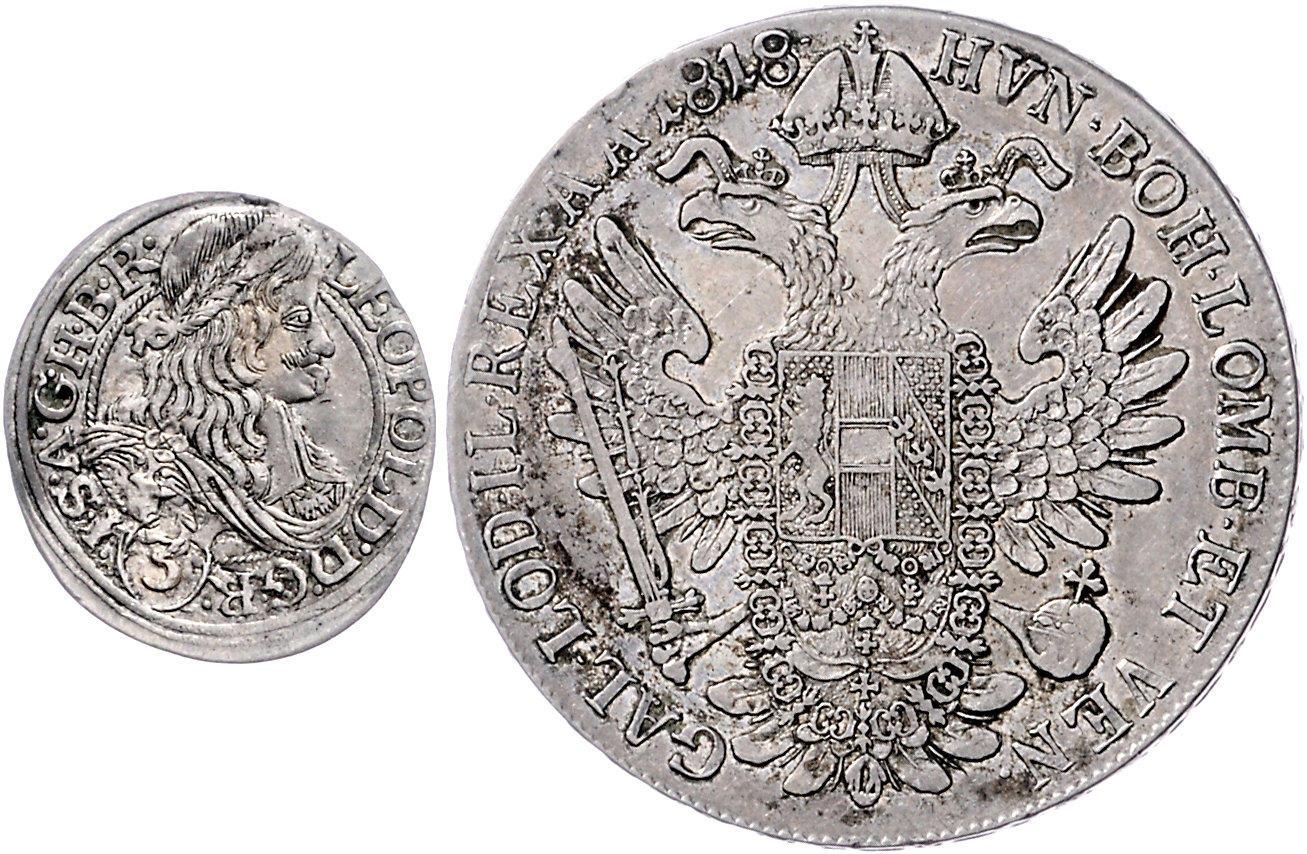 Münzen Altdeutschland Bis 1871 Rdr Osterreich 6 Kreuzer 1684 Leopold Breslau Silber Münzen