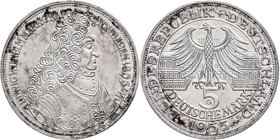 Numisbids Dr Reinhard Fischer Auction 165 Lot 1004 Münzen Bund