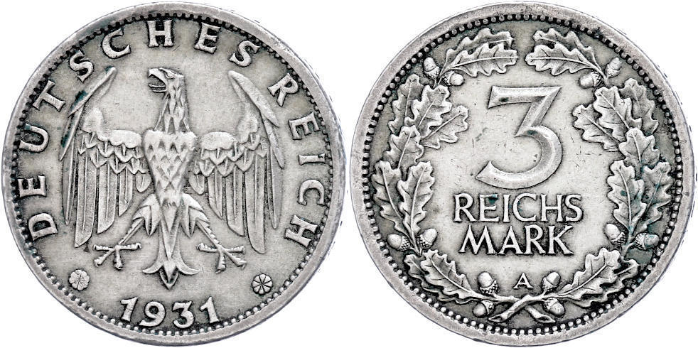 Numisbids Dr Reinhard Fischer Auction 166 Lot 176 Münzen Weimar