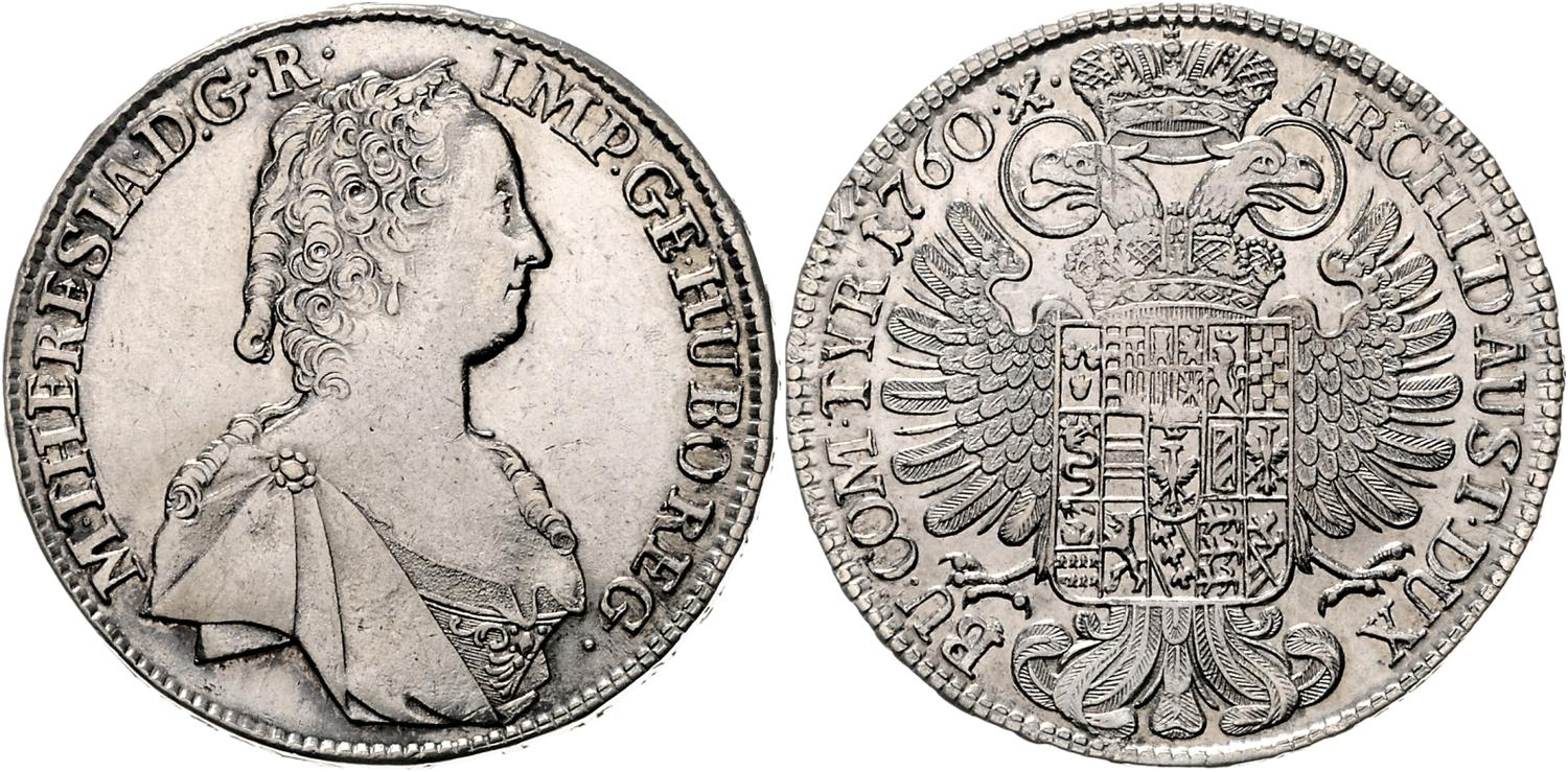Numisbids Auktionen Frühwald Top3 Auction Lot 491 Maria Theresia