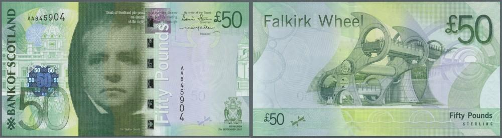Scotland Royal Bank 5 pounds P-364 UNC/>500th anniversary note COMM 2005