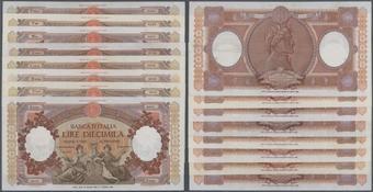 10 2x 100,500,1.000,5.000,10.000 Finnish Markka Issue 1955-10 Banknotes