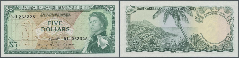 East Caribbean States 5 Dollars Aunc P 14 H 1965
