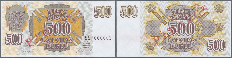 P-39 Latvia 20 Rubli banknote 1992 UNC