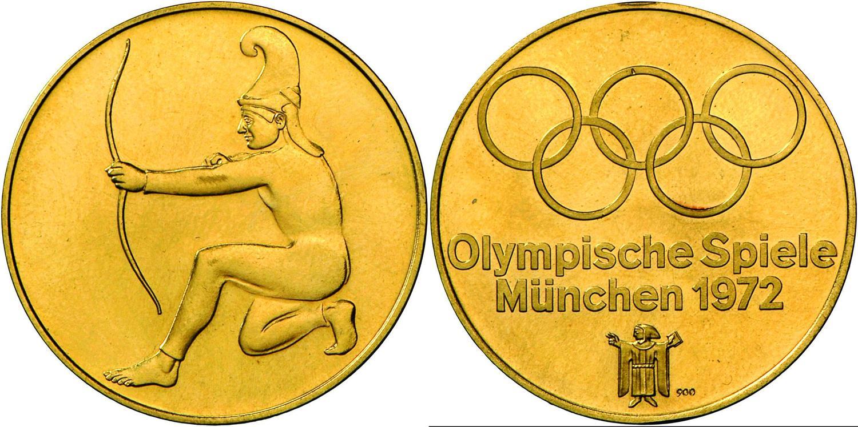 Numisbids Christoph Gartner Gmbh Co Kg Auction 39 Coins Lot 4582 Medaillen Deutschland Munchen Olympische Spiele 1972 Goldmedaille