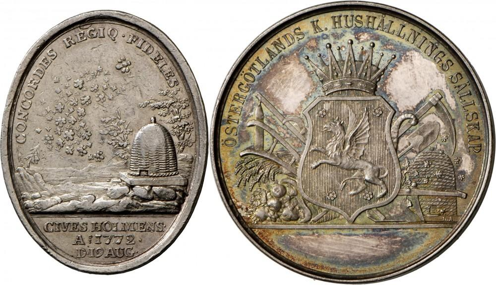 schweden lot 25 medaillen in silber und bronze u a ovale silbermedaille 1772 von g ljungberger originalstuck