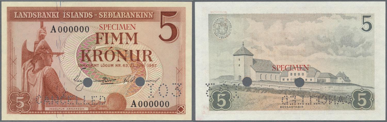 ICELAND 100 KRONUR 1957 P 40 UNC