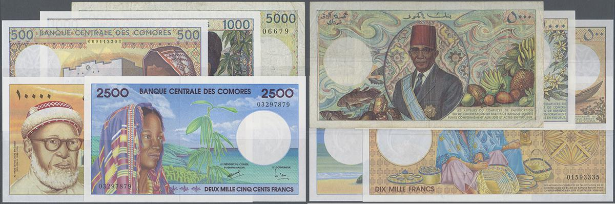 UNC /> Colorful 1994 10b Comores 500 Francs Comoros ND P-10