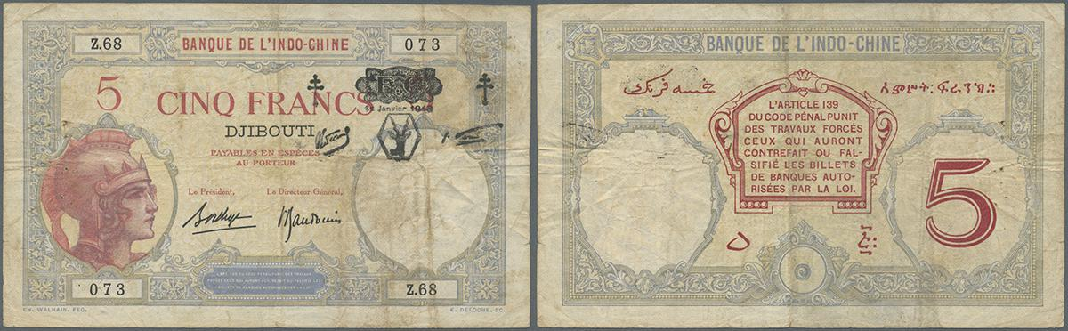 2x 1 Issue 1943-4 Banknotes 5 Spanish Pesetas 16