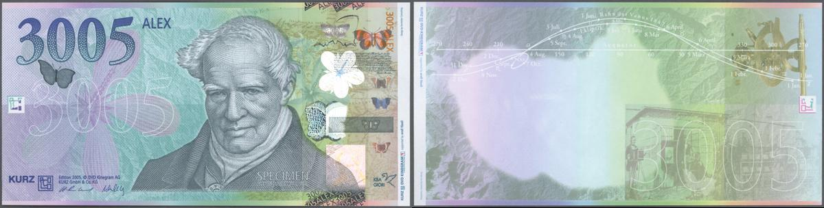Stunning 001 Cash Cycle KBA-GIORI Butterfly Test note // Specimen