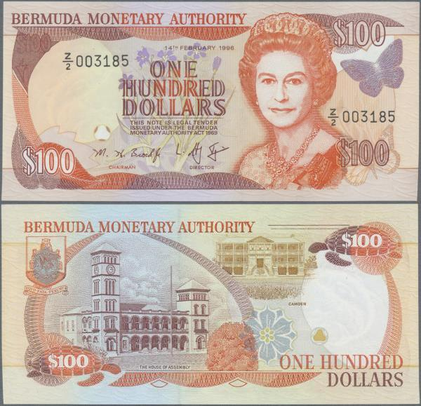 Reproduction Bermuda 100 Dollars 1996 UNC
