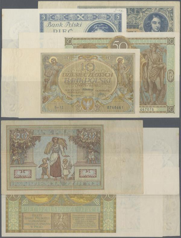 1929 Poland P-71 50 Zlotych XF /> Over 90 years old