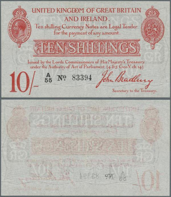Reproduction UNC Ireland and Great Britain 10 schilling 1915