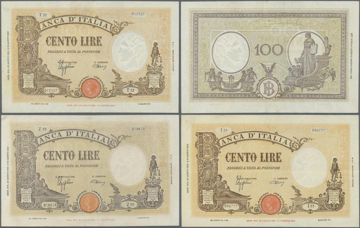 Italy 1746 Huge P-S101r Kingdom of Sardinia,100 Lire