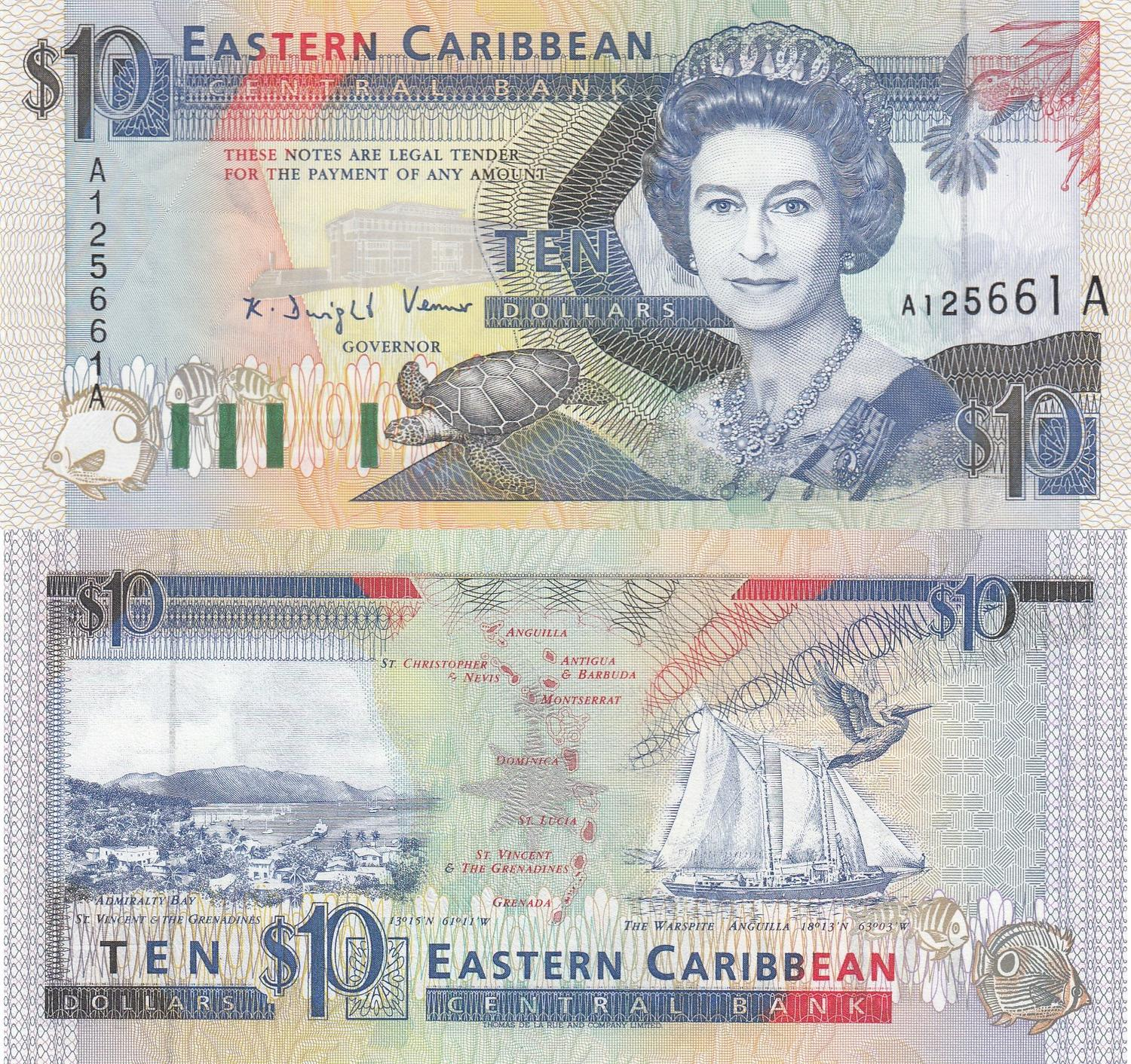 Unc P East Caribbean States 50 Dollars 2000 40 A