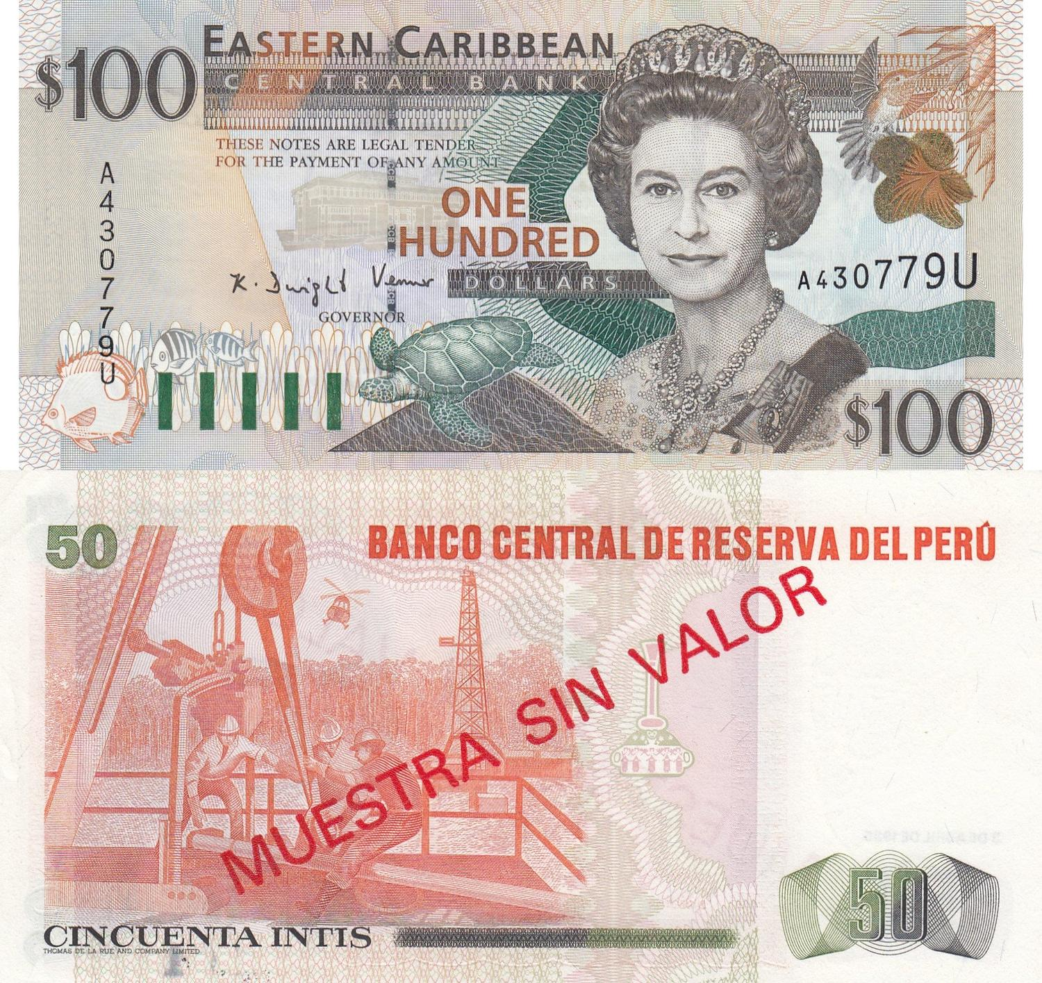 Unc P 40 A 2000 East Caribbean States 50 Dollars