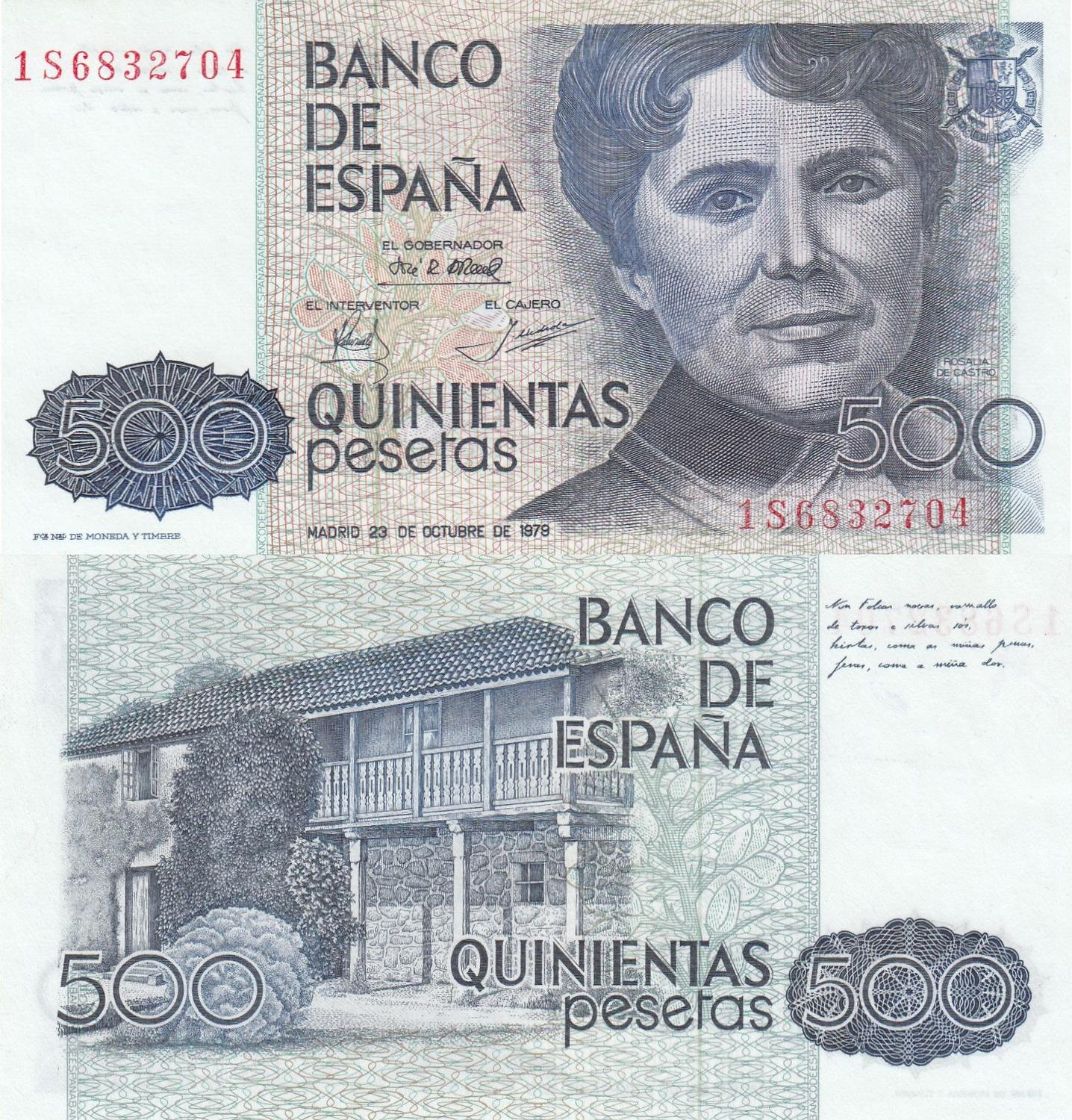 6RW 24 JUL SPAIN 500 Pesetas 1979  UNC CONDITION  P 157