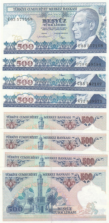 UZBEKISTAN 500 SUM 1999 P 81 UNC LOT 50 PCS 1//2 BUNDLE