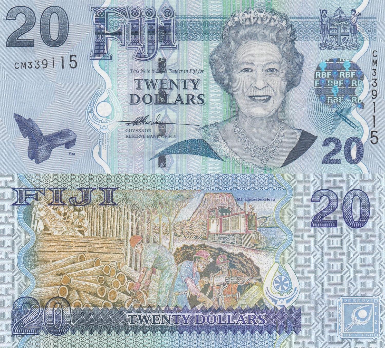 2012 Fiji 2 Dollars P-109 Queen Elizabeth II Unc ND 2007
