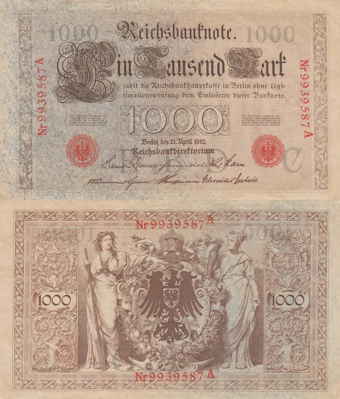 Germany 100 Mark 1910 aUNC//UNC
