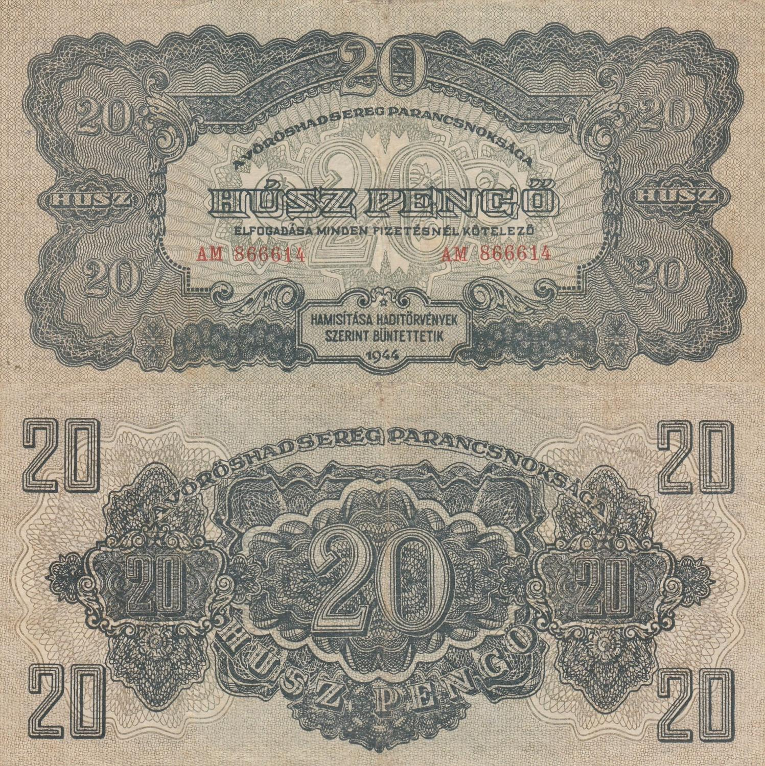 COLOMBIA NOTE $10 1945 VF-//VF+