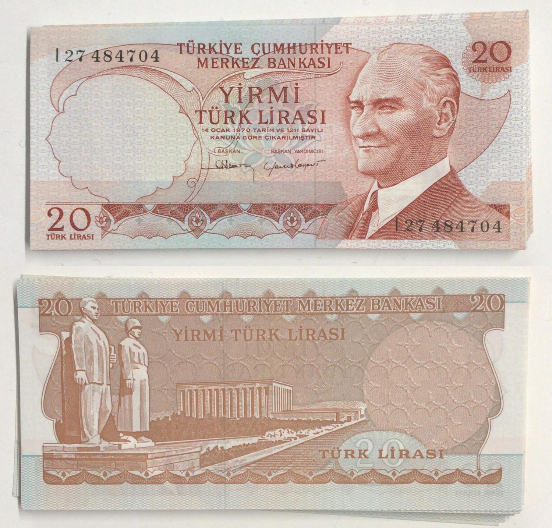 P-189 1972 1970 Turkey 100 Lira UNC