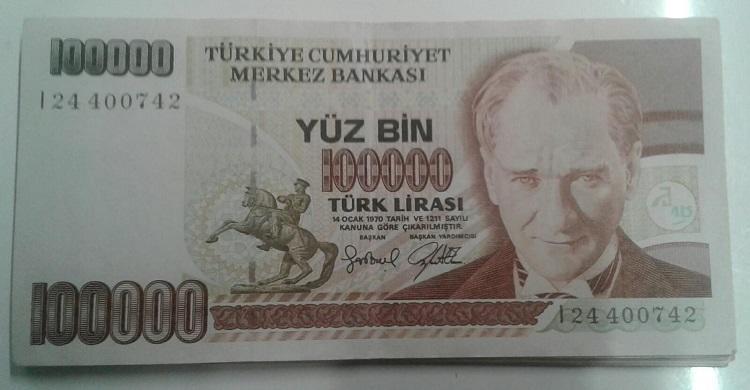 TURKEY 10 LIRA 1970 ALL UNC 20 PCS LOT P 192 1979