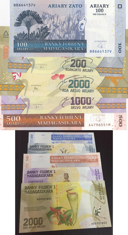 500 Francs ND UNC P71b MADAGASCAR 1993