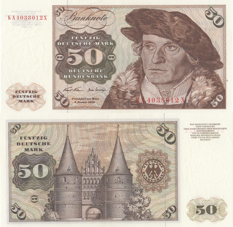 GERMANY 100 MARK 1970 P 34 AUNC