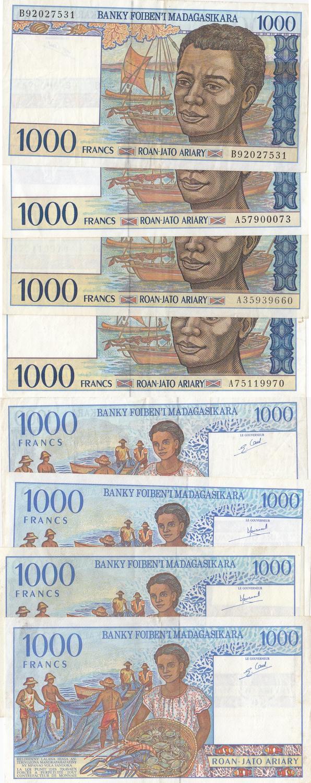 Algeria 1000 francs 1926 UNC Reproduction