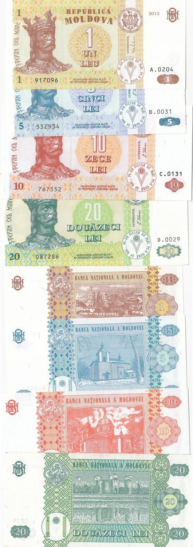 MOLDOVA 20 LEI 2013 P 13 UNC