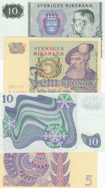 Sweden 5 Kronor p-50b 1963 UNC Banknote