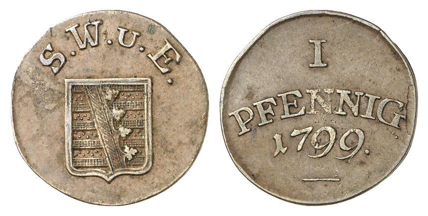 Ad Sachsen 1 Pfennig 1775 C Friedrich August Iii Kleinmünzen & Teilstücke Münze Von 1775 Deutsche