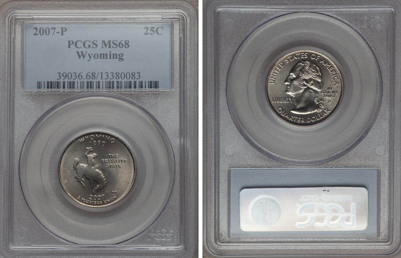 2007-P KENNEDY HALF DOLLAR PCGS MS68