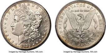 1879 S Rev of 1879 3rd Rev $1 Morgan Silver Dollar US Coin VF Very Fine